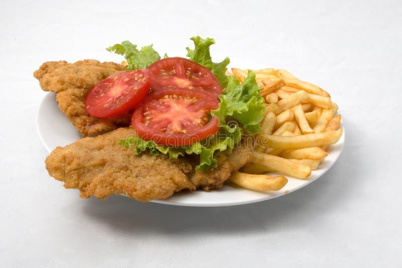 Viande frite croustillante images libres de droits