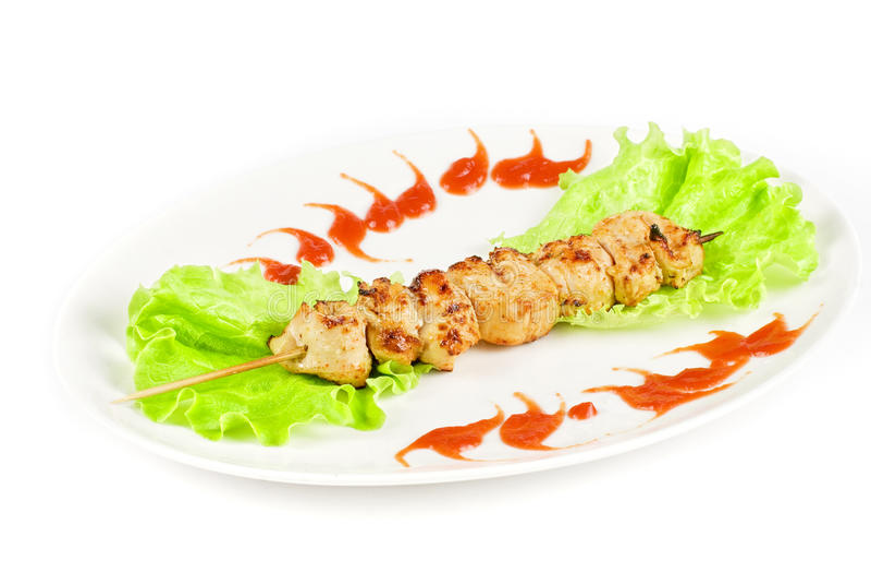 Viande grillée de poulet photos stock