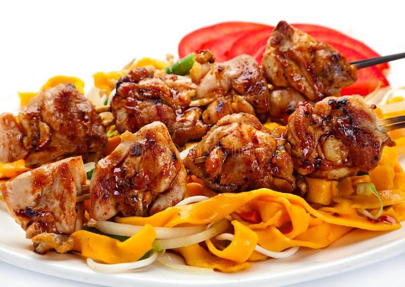 Viande grillée de poulet image libre de droits