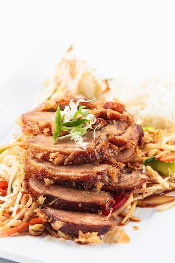 Viande rôtie avec du riz Cuisine coréenne photo libre de droits