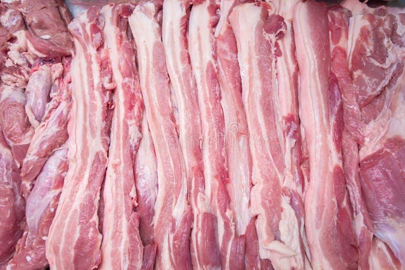 Viande sur le marché image libre de droits