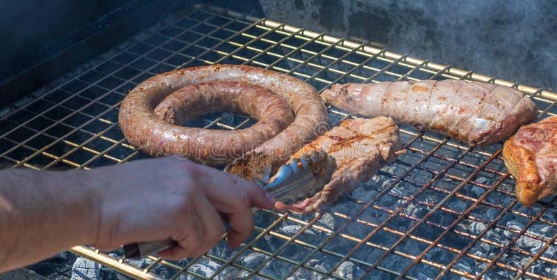Viande sur un barbecue photo libre de droits