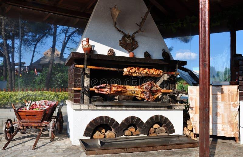 Viande sur une brochette. image stock