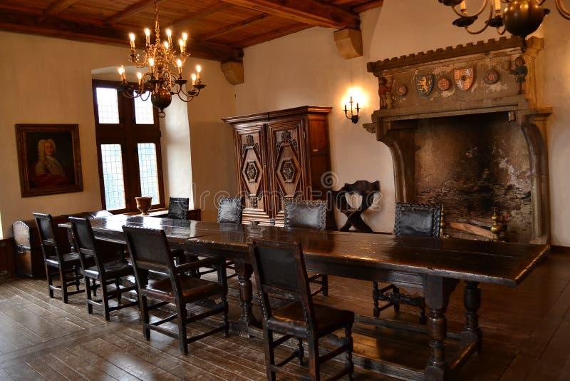 Vianden大别墅,卢森堡 免版税库存图片