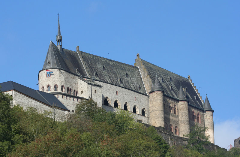 Vianden Castle royalty free stock photography
