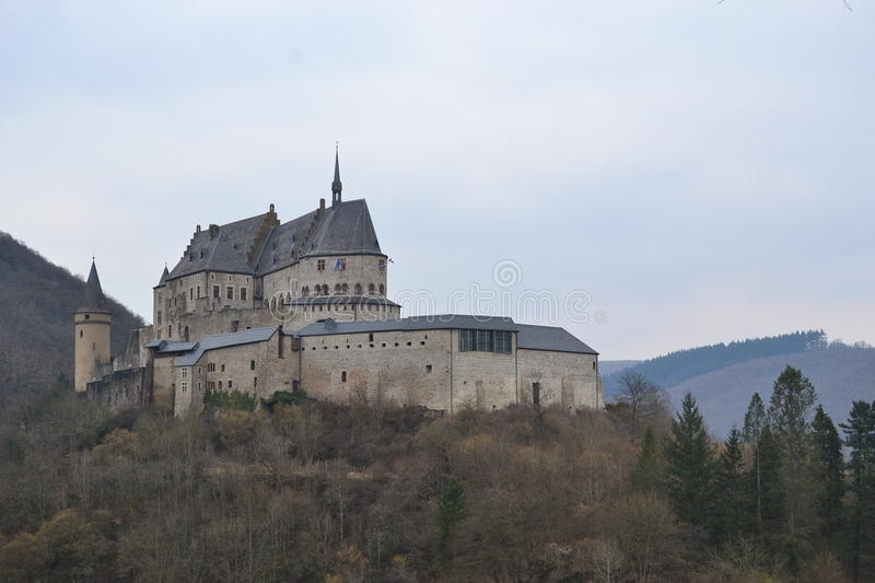 Vianden chateau, Luxembourg stock image