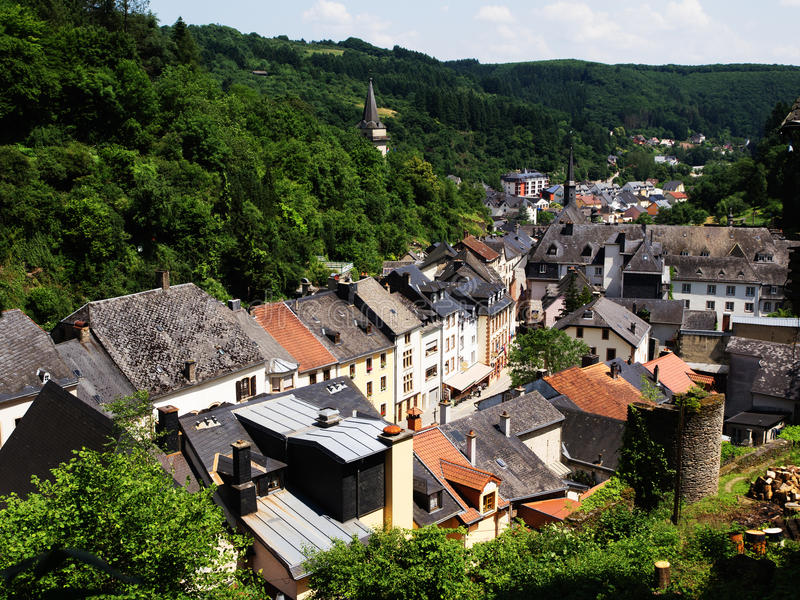 Download Vianden, Luxembourg On The River Sauer Stock Image - Image: 32271167