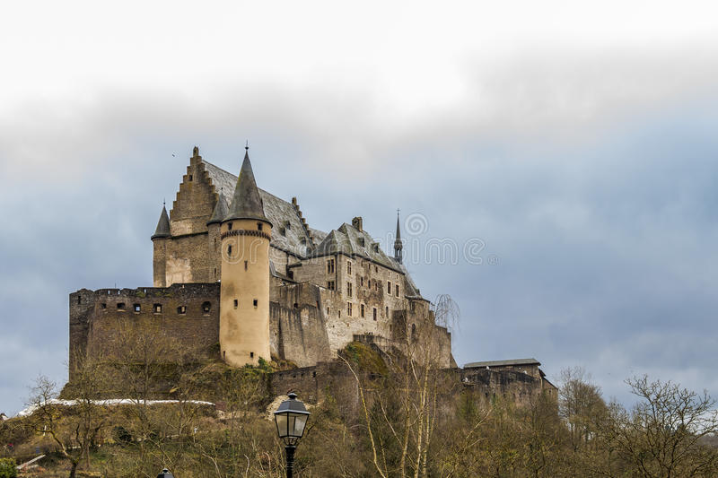 Vianden medieval Castle in Luxembourg royalty free stock photo