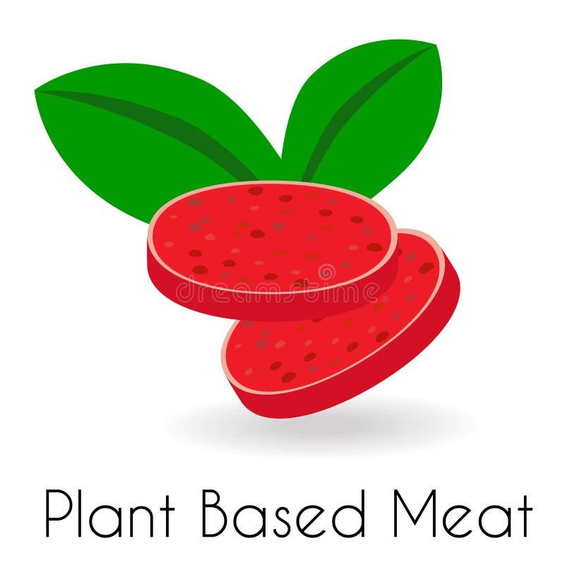 Viandes à base végétale Parties avec rouleau de style salami illustration stock
