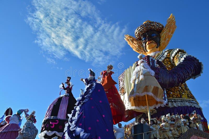 Viareggio狂欢节,意大利 库存照片