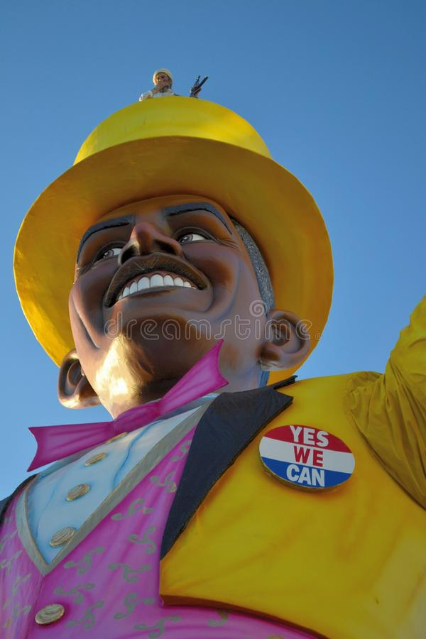 Viareggio carnival obama, carnevale royalty free stock photos