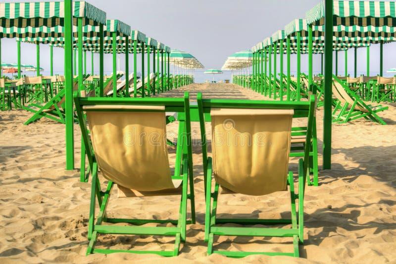 Viareggio en zijn strand royalty-vrije stock foto's
