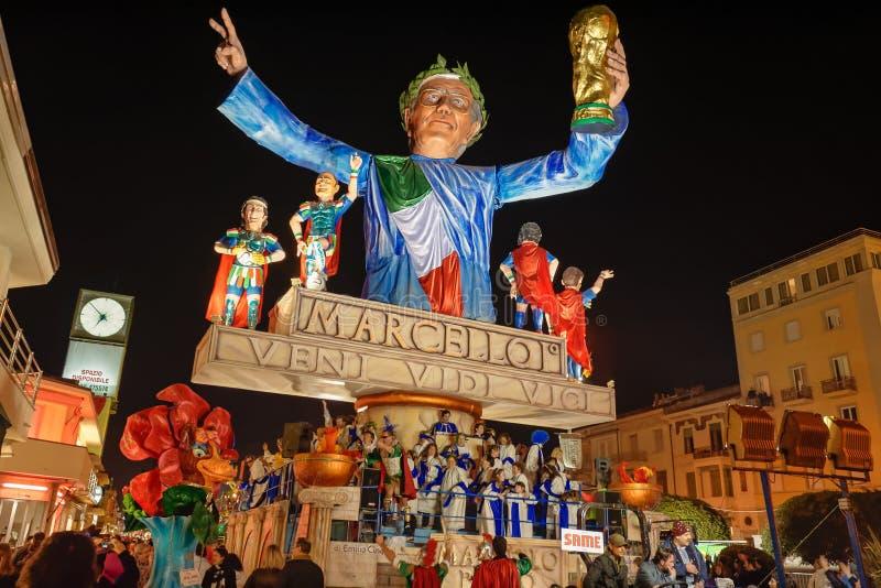 VIAREGGIO, ITALY - FEBRUARY 20: allegorical float in honor of royalty free stock photos