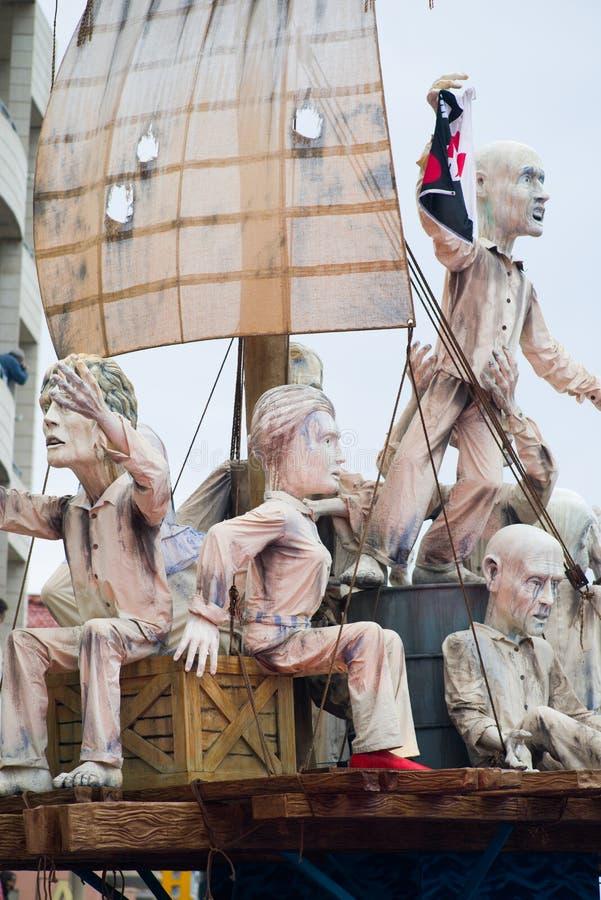 Viareggio karnawał, 2019 wydanie obraz stock