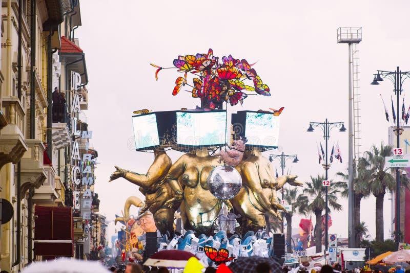Viareggio karnawał, 2019 wydanie obrazy royalty free