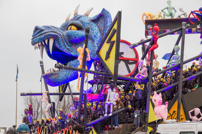 Viareggio's Carnival 2016 royalty free stock images