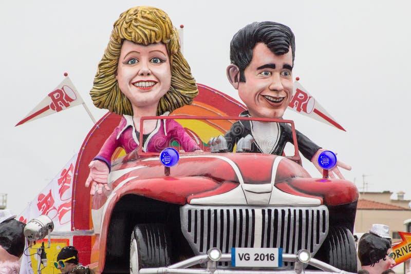 Viareggio's Carnival 2016 royalty free stock photos