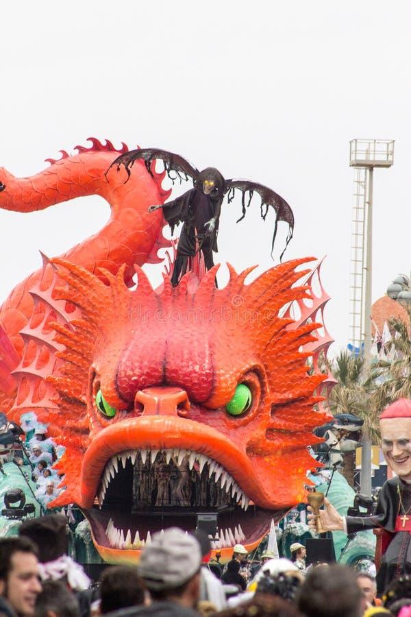 Viareggio's Carnival 2016 royalty free stock photo