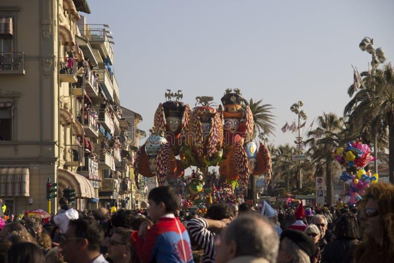 Carnival of Viareggio stock image