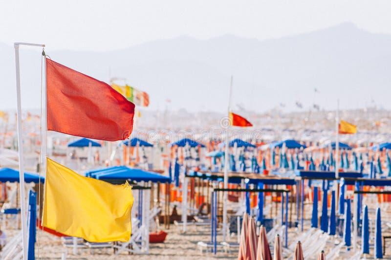 Viareggio strand, Italien, Tuscany royaltyfri fotografi