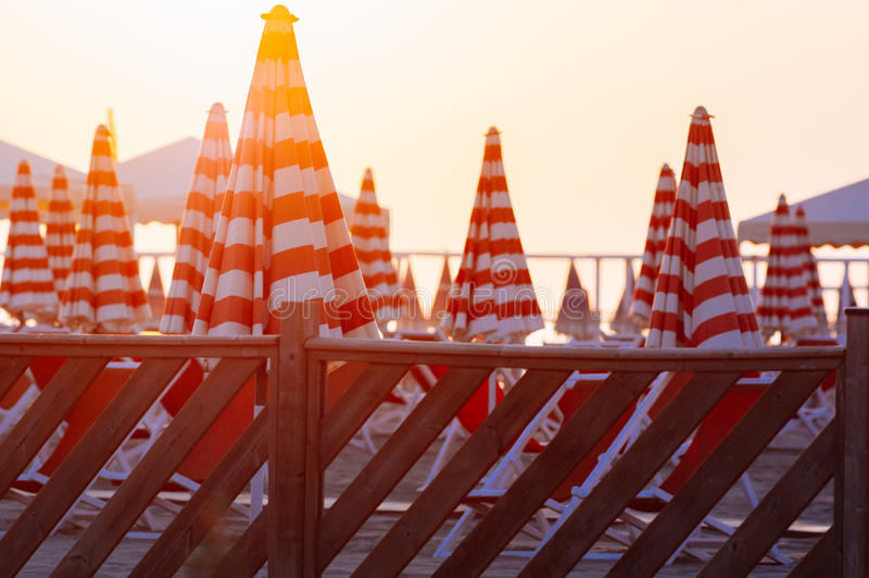 Viareggiostrand, Italië, Toscanië stock afbeeldingen