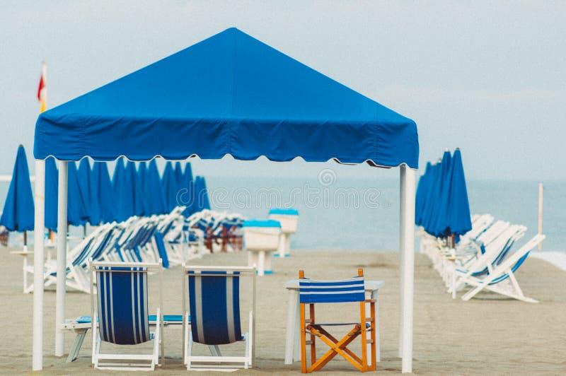 Viareggiostrand, Italië, Toscanië royalty-vrije stock foto's