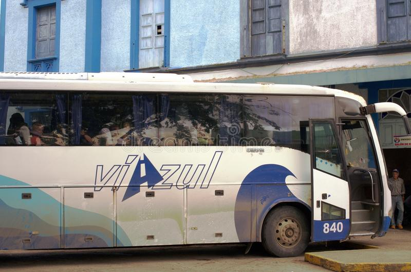 `Viazul` official bus transport for foreign tourist in Cuba. `Viazul` official bus transport for foreign tourist, parked at a bus station in Cuba royalty free stock image