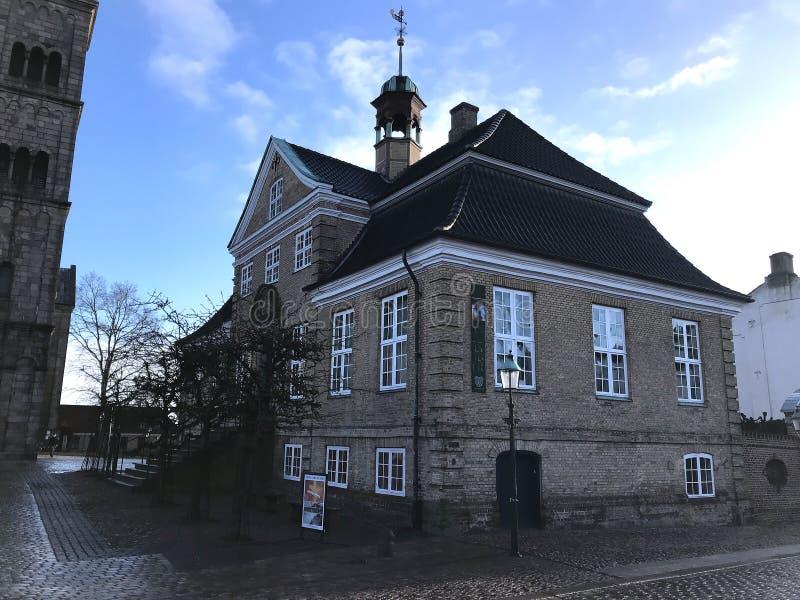 Viborg in Denmark,travel destination. Travel to Europe under winter,Viborg in the Denmark stock photo