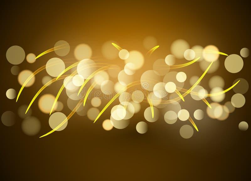 Vibrand传染媒介排行光线影响背景 在行动的发光的不可思议的线 库存例证