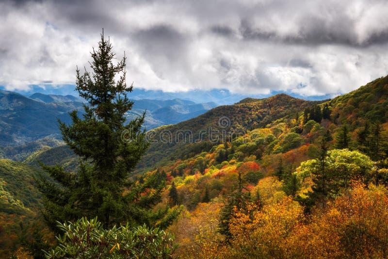 North Carolina Blue Ridge Parkway Autumn Colors Scenic Landscape Photography royalty free stock image