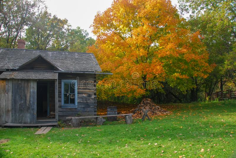 Vibrant Autumn Colors at Old World Wisconsin royalty free stock photo