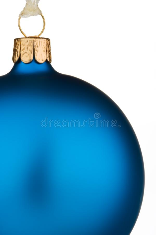 Vibrant blue Christmas Bauble royalty free stock photo