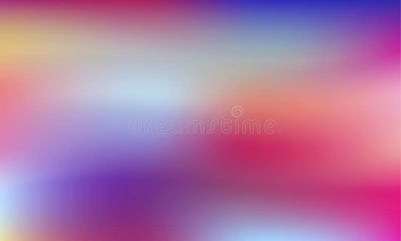 Vibrant colorful gradient background. Style 80s - 90s. Colorful texture in pastel, neon color. For your creative design cover, screensavers, banners, book royalty free illustration