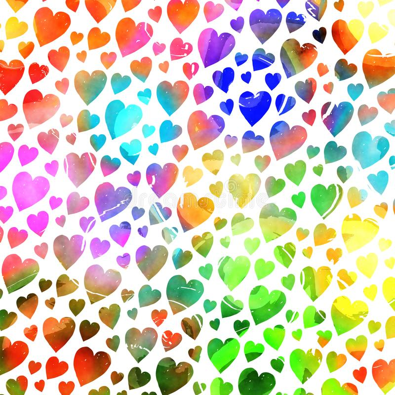 Download Shabby Chic Watercolor Ink Repeating Pattern Stock Illustration - Illustration of background, hearts: 110547154