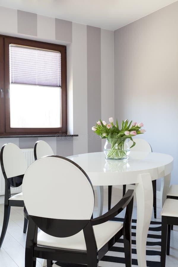 Vibrant cottage - White table stock photos