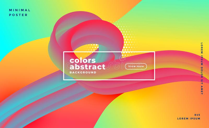 Vibrant 3d fluid loop banner colorful background design royalty free illustration