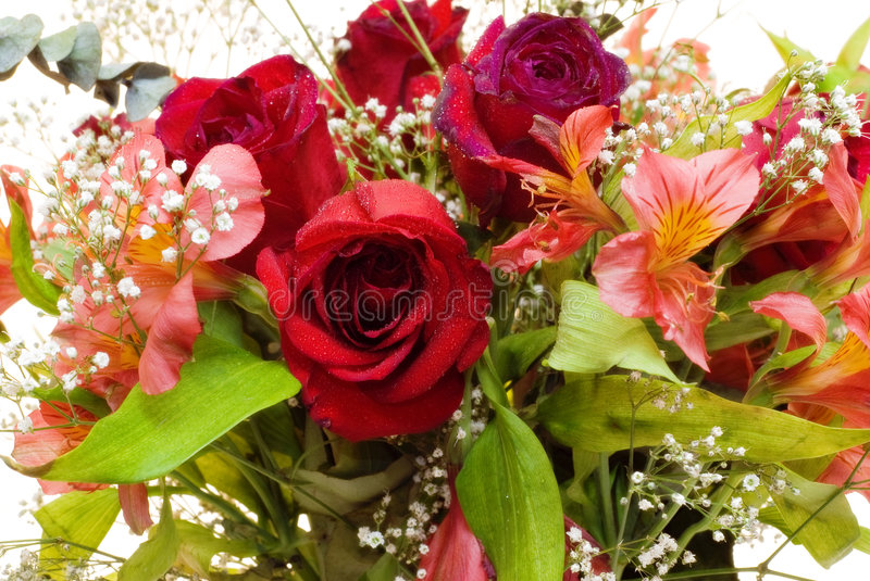 Vibrant Flower Bouquet stock images