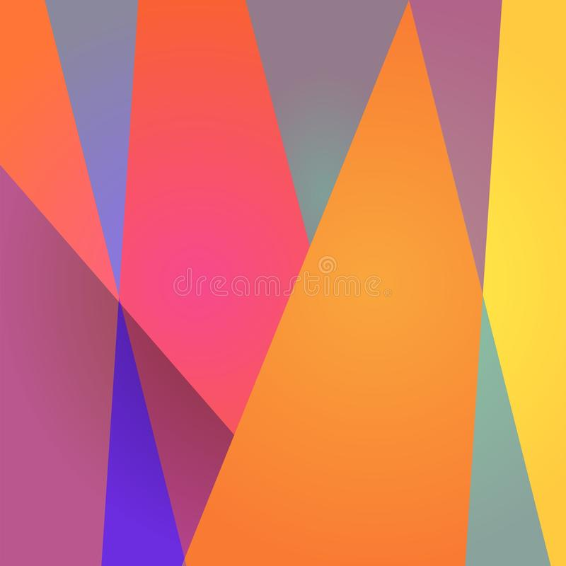 Free Vibrant Geometric Background. Abstract Modern Pattern For Banner, Cover, Wrapping Design. Royalty Free Stock Photography - 132955387