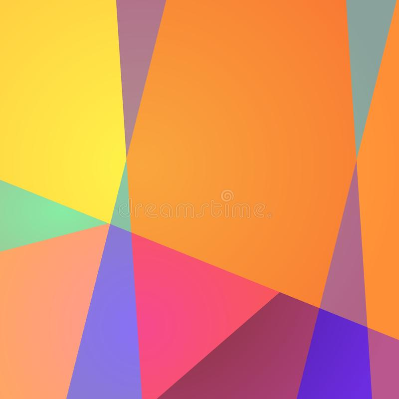 Vibrant geometric background. Banner, print for fabric, wrapping design. Vector illustration.  royalty free illustration