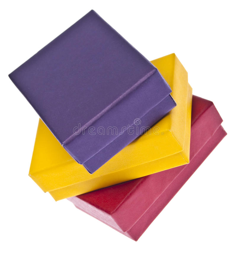 Vibrant Gift Boxes Stock Images
