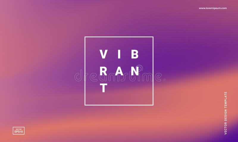 Vibrant gradient background royalty free illustration