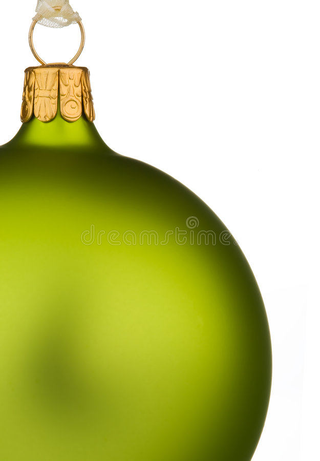 Download Vibrant Green Christmas Bauble Stock Image - Image: 6619729