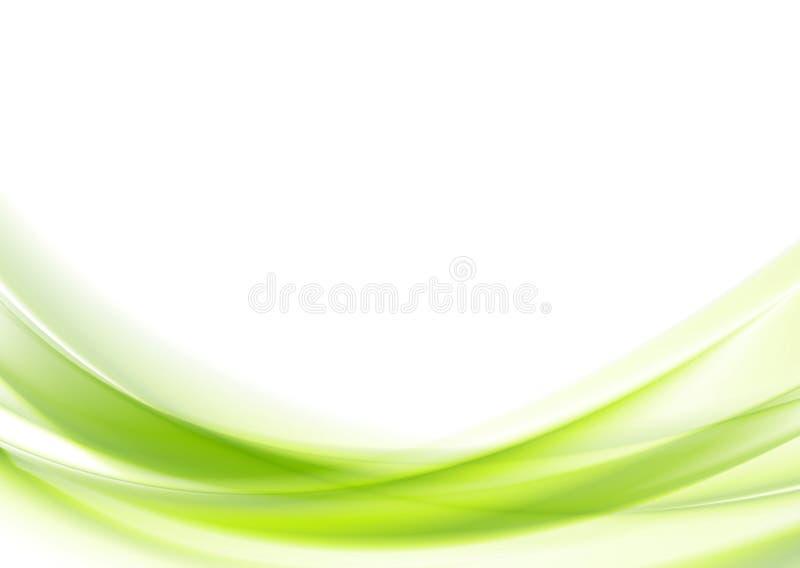 Vibrant green wavy vector design stock photography