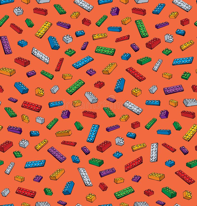 Lego Pattern. Vector Drawing Stock Vector - Illustration of home ...