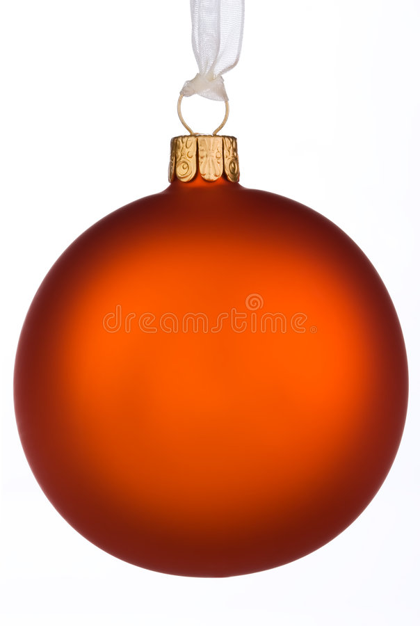 Vibrant orange Christmas Bauble