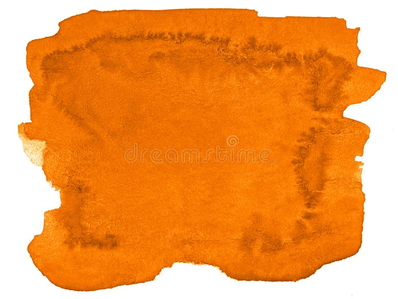 Vibrant orange watercolor abstract background, stain, splash paint, stain, divorce. Vintage paintings for design. And decoration. With copy space for text vector illustration