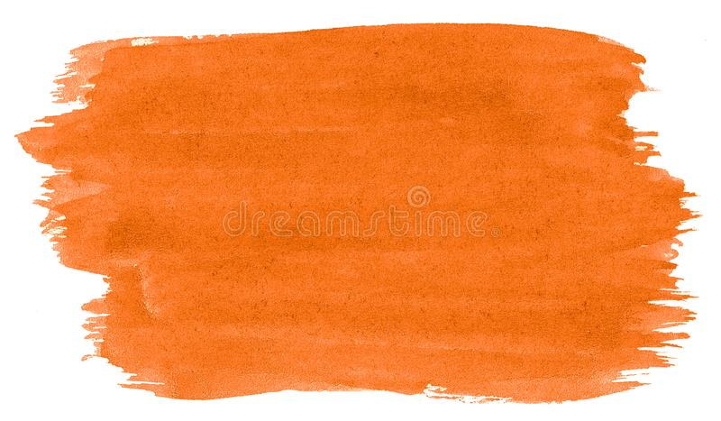 Vibrant orange watercolor abstract background, stain, splash paint, stain, divorce. Vintage paintings for design and decoration. With copy space for text royalty free stock images