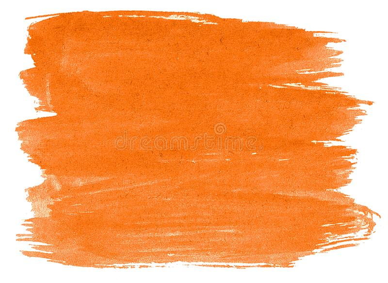 Vibrant orange watercolor abstract background, stain, splash paint, stain, divorce. Vintage paintings for design and decoration. With copy space for text vector illustration