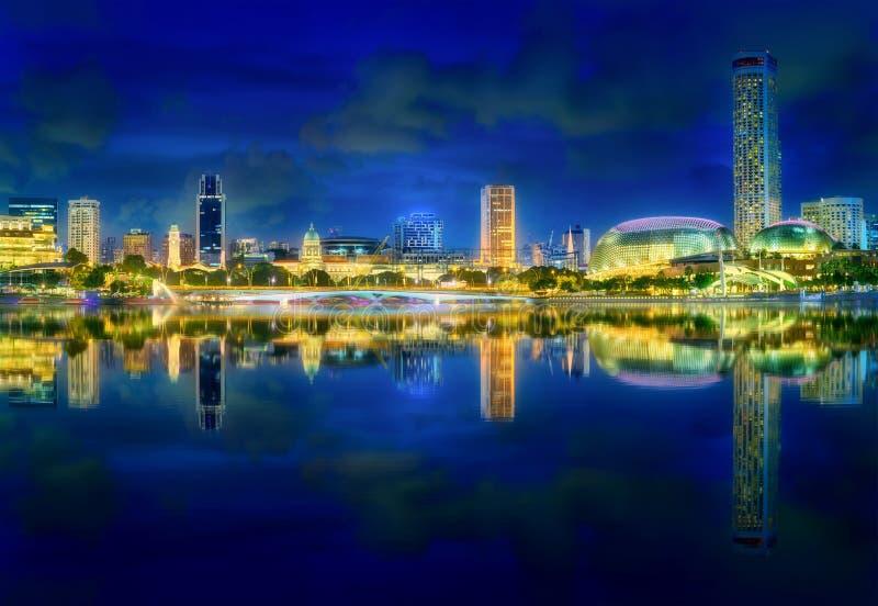 Download Singapore Skyline Background Stock Image - Image of landscape, dusk: 101663053
