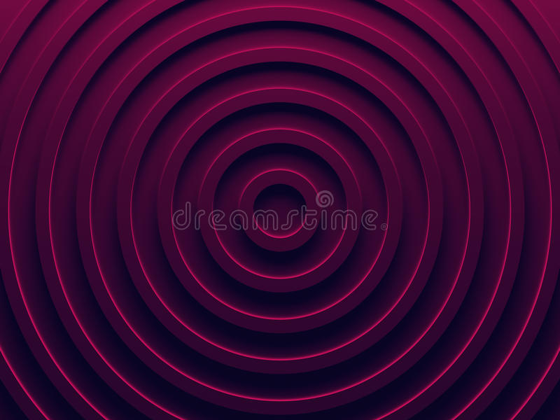 Vibrant pink rings. Abstract background. vector illustration